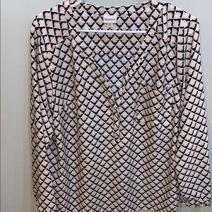 Merona polyester geometric pattern blouse size XL